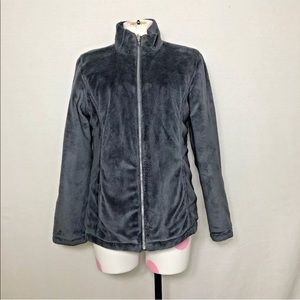 Zero Xposur Women's Gray Reversable Zip-Up Jacket
